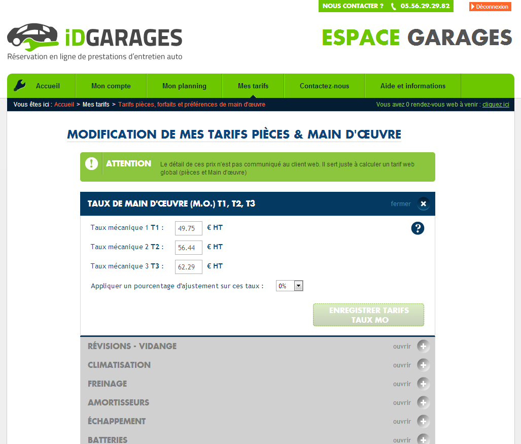 Actualit s automobile idgarages s apprete a conquerir la for Tarif horaire garage automobile